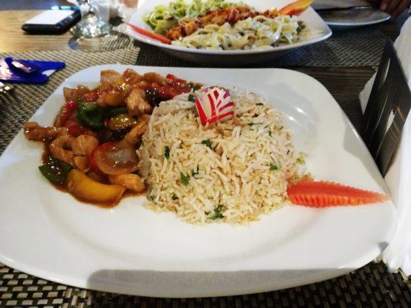 Shenghai Chicken- Naan Bun Paneer