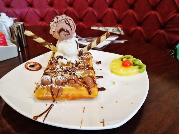 The Chocolate Room- Snowman Waffles