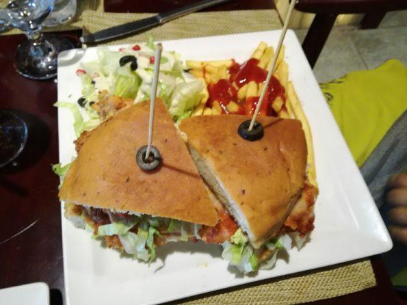 Zucchini - Chicken Parmesan Sandwich