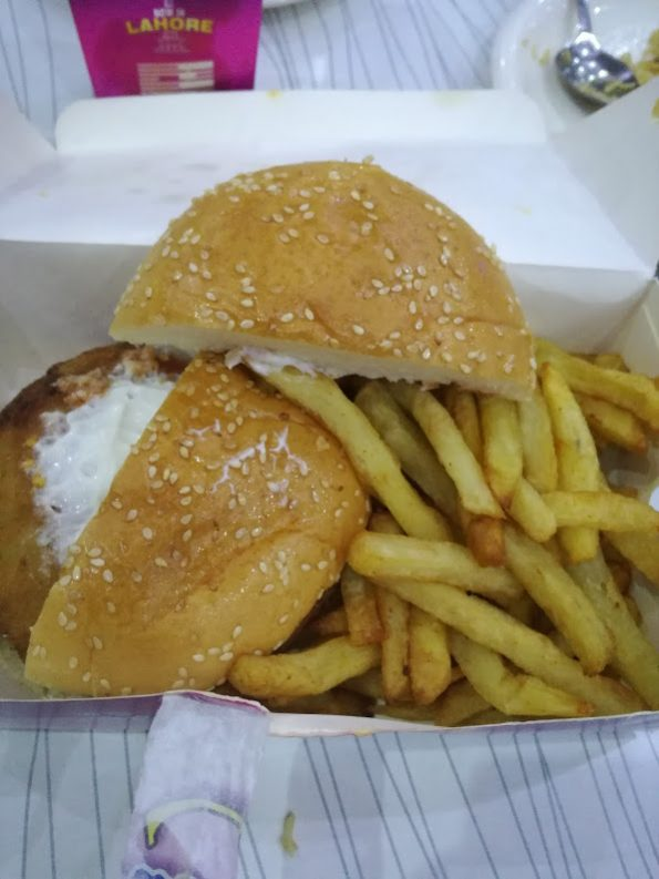 Savour - Chicken Burger and Fries