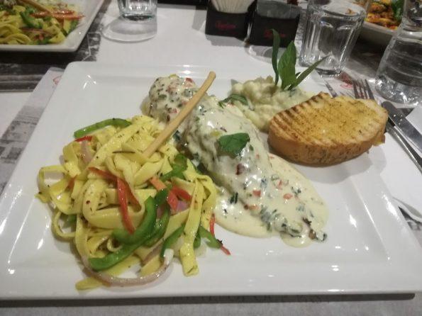 Cafe Barbera - Mediterranean Chicken With Spicy Pasta