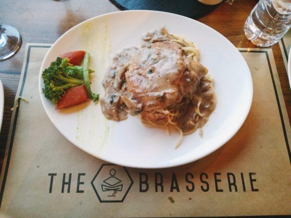 The Brasserie -Three Cheese Chicken With Spaghetti