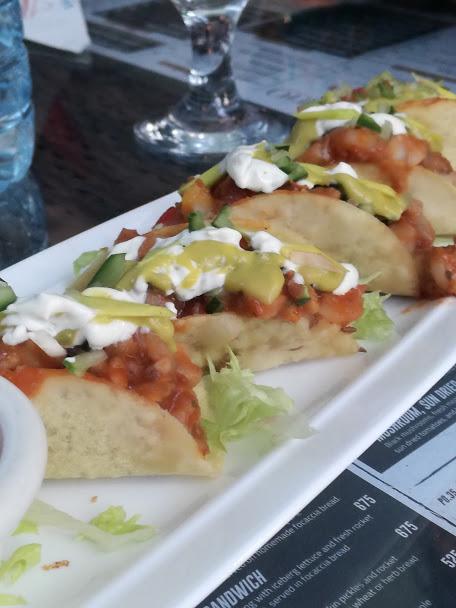 Seafood Avocado Salsa Tacos - The Patio